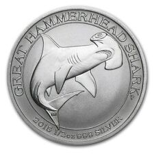 Perth Mint Australia $ 0.5 Great Hammerhead Shark 2015 1/2 oz .999 Silver Coin