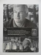 2003 Print Ad Jack Daniels Tennessee Whiskey ~ Head Distiller Jimmy Bedford