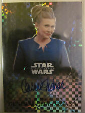 2016 TOPPS STAR WARS CHROME AUTOGRAPH CARRIE FISHER LEIA PRISM REFRACTOR 25