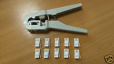 BT431a 631A Crimping Crimper Tool Telephone Plugs +15 Genuine BT White Connector