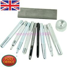 Set of 11 Craft Tool Die Punch Snap Rivet Setter Base Kit For DIY LeatherCraft