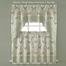 New Saturday Knight Butterfly Window Swag Valance Butterfly Bliss 56 x 30 Total