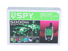 Authentic SPY LCD 2 way motorcycle alarm system remote start & microwave sensor