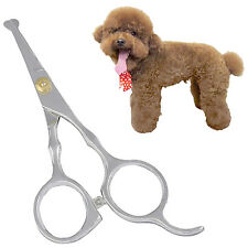 Dog Cat Pet Grooming Safety Rounded Tips Scissors tool for pet curly dirty hair