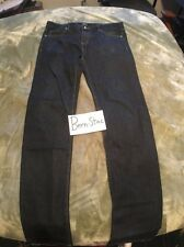 Obey Denim Pants Tight Stretch Straight Leg Size 34