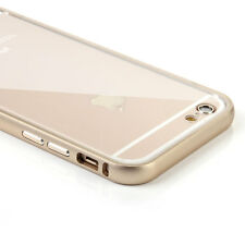 """Ultra-Thin Aluminum Metal Bumper + Clear Back Case Cover Skin for iPhone 6 4.7"""""""