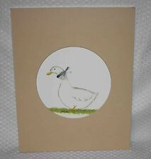 "Delores ""Dee"" Lurker- The Bama Gr'Ma - Sweet Duck w/ Bow Art Print - Lot # 2"