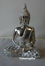 Argent art deco thai bouddha bling statue figure ornement LP28041
