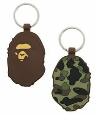 A Bathing Ape Bape CAMO RUBBER Keychain Green New Free Shipping