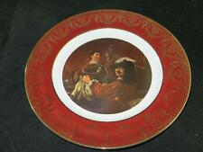 SUPERB GILDED DISPLAY PLATE Rembrandt The Painter and his Wife