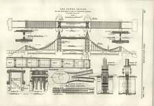 1889 Tower Bridge Cruz vigas abarca Portátil Eléctrico grúa guyenet