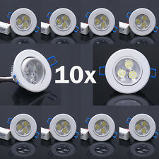 10x Dimmable 3W LED Recessed Ceiling Light Downlight Spot Lamp Bulb Warm White