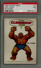1967 Marvel Super Hero Stickers #7 The Thing PSA 7 NM Non-sport Card LOW POP