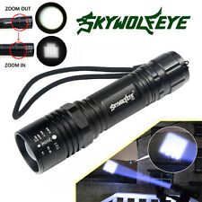SHADOWHAWK CREE XML T6 Tactical Zoomable 6000 Lumen LED Flashlight Torch Lamp