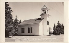 Postcard RPPC Old Pulpit Harbor Church North Haven ME
