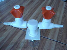 Double Bench Deck Mounted Laboratory Lab Valves. WaterSaver Faucet Co.
