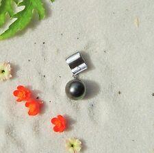 PENDENTIF ARGENT 925 PERLE DE TAHITI * TAHITIAN BLACK PEARL  TOP AFFAIRE