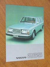 1977 Volvo 265 original double sided single page brochure