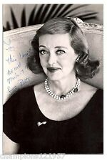 Bette Davis ++Autogramm++ ++Hollywood Legende++