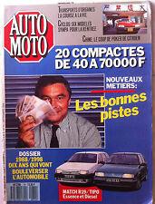 Auto Moto du 9/1988; Match R19/Tipo essence et Diesel/ Chine et Citröen/ Compact