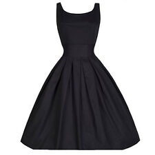 Black 3XL 50'S 60'S ROCKABILLY Vintage Style Swing Pinup Retro Housewife Dress