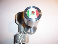 """Two Hole Pins. 1/2"""" to 1-1/8"""" Knurled, Aluminum,MEXICO Flag. By Jermamma."""