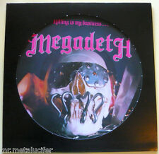 "MEGADETH ""Killing Is My Business"" Picture LP 1985 MFN 46P  ULTRA RARE"
