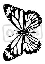 A7 'Butterfly' Unmounted Rubber Stamp (SP001741)