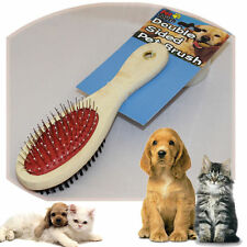 Pet Grooming Brush Dog Cat Puppy Double Sided Professional Hair Shedding Tool