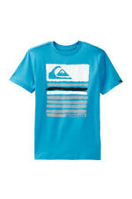 Quiksilver Boys M Painter Turquoise Blue Graphic Short Sleeve Tee T-Shirt