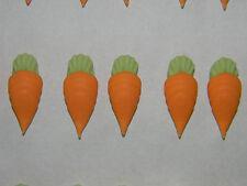 12 Azúcar Zanahorias Comestible Cupcake Toppers Torta Decoraciones espolvorear S