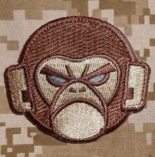 ANGRY MONKEY FACE LOGO TACTICAL COMBAT MILSPEC ARMY MORALE DESERT VELCRO PATCH