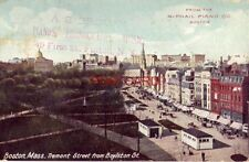 BOSTON MASS. TREMONT STREET FROM BOYLSTON ST. from  McPhail Piano Co & A S Brown