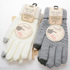 1Pair Men Women Knitted Glove Warm Touch Screen Five Finger Thermal Lovers Glove