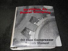 DeVilbiss Air Power Company Oil Free Compressor Repair manual