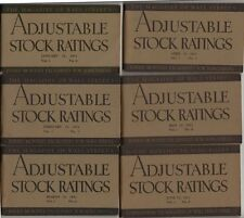 Lot of 6 - 1931 Adjustable Stock Ratings Booklet - During The Depression