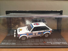 "DIE CAST "" TALBOT SUNBEAM LOTUS RALLY BRASIL 1981 "" PASSIONE RALLY SCALA 1/43"