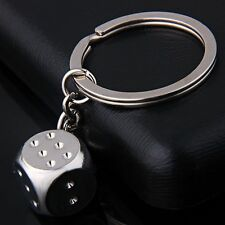 Personality Dice Alloy Keychain For Man Women Gift Trinket For Car Key Ring