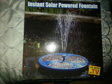 INSTANT SOLAR POWERED FOUNTAIN AS SEEN ON TV BARGAIN