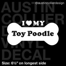 "6.5"" TOY POODLE vinyl decal car window laptop sticker - dog breed rescue"