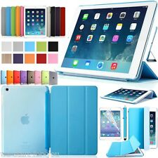 ★Ultra-Slim iPad Air 2/iPad 6 Schutz Hülle+Folie Tasche Smart Cover Case Etui 10