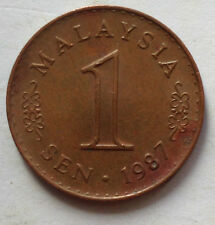 Parliament Series 1 sen coin 1987 (B)