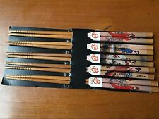 5 Pairs Chopsticks Classic Wood Assorted Chinese Drunkened Concubine pattern