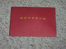 1948-1954 Porsche 356 Factory Owner's Owners Manual Book 49 50 51 52 53