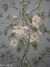 GP & J BAKER CURTAIN FABRIC DESIGN Tree Peony 12 METRES BLUE/WHITE CRAYFORD COL
