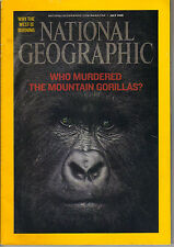 NATIONAL GEOGRAPHIC Magazine July 2008 Murdered Virunga Gorillas Dinosaurs Coral