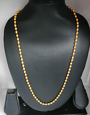 Real looking 22k ct gold plated  chain Asian  style  chain  24in necklace hc14