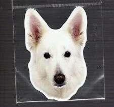 White German Shepherd 4 inch face magnet for anything metal