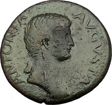 ANTONIA wife NERO CLAUDIUS DRUSUS 41AD Authentic Ancient Roman Coin i53849