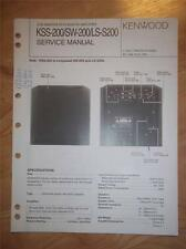 Kenwood Service Manual~KSS-200/SW-200/LS-200 Sub Woofer~Original Repair